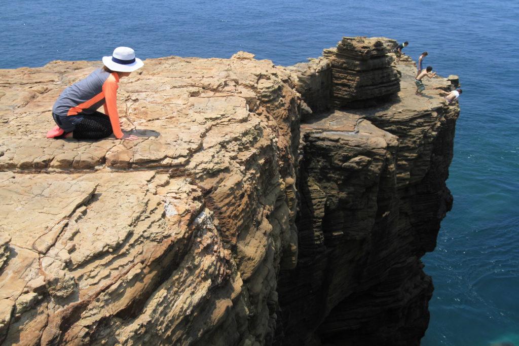 断崖絶壁の蛇ヶ谷