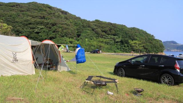 串山キャンプ場の様子