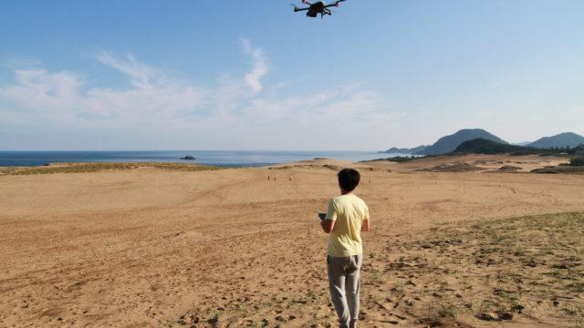 鳥取砂丘でドローン
