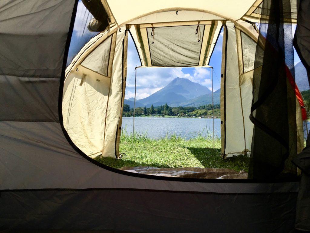 テントからの景観も最高